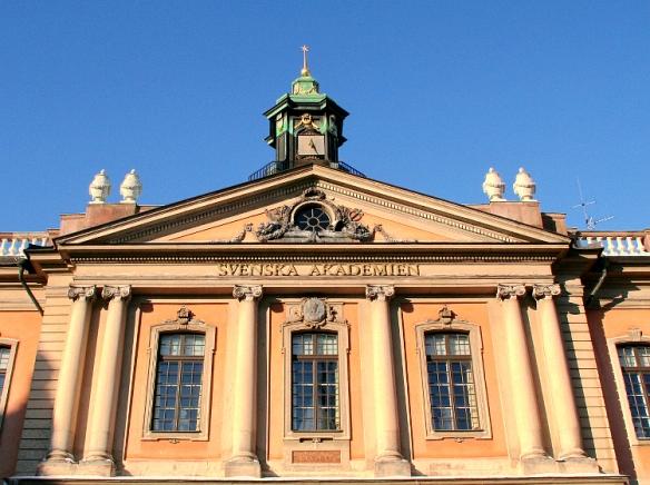 Sede de la Academia Sueca, antiguo edificio de la Bolsa, Estocolmo.